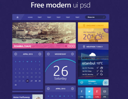 50 Free Flat UI Kits For User Interface Designers 44