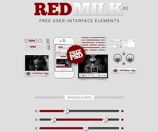 50 Free Flat UI Kits For User Interface Designers 46