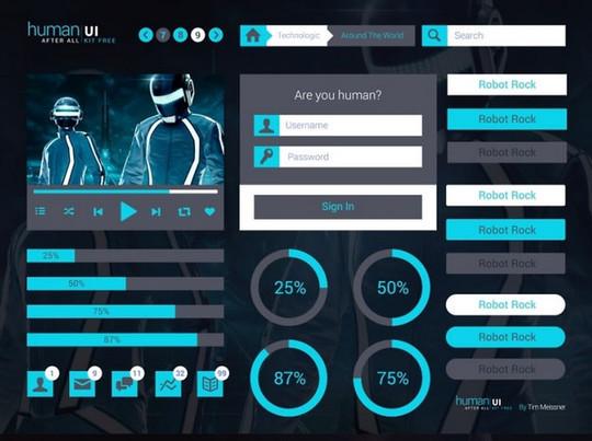 50 Free Flat UI Kits For User Interface Designers 47