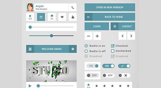 50 Free Flat UI Kits For User Interface Designers 48