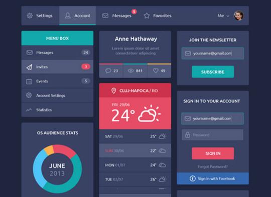 50 Free Flat UI Kits For User Interface Designers 15