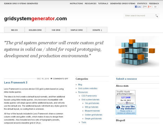 44 Flexible Grid Tools For Responsive Websites 27