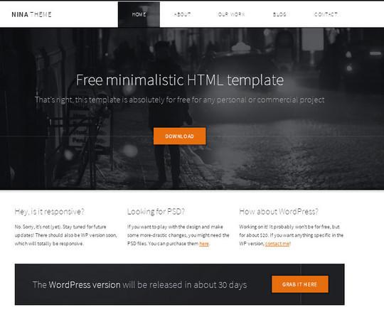 Elegant Yet Free HTML5 Web Templates And Layouts 21