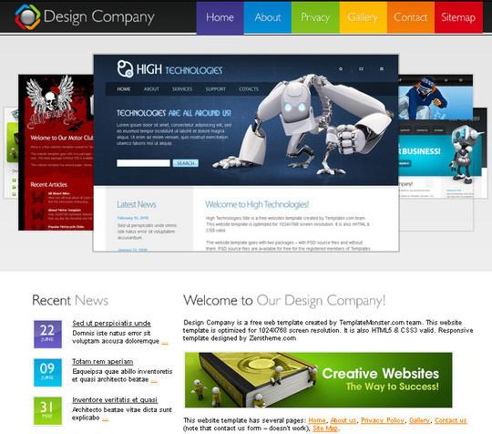 Elegant Yet Free HTML5 Web Templates And Layouts 28