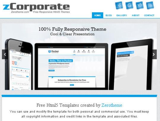 Elegant Yet Free HTML5 Web Templates And Layouts 30