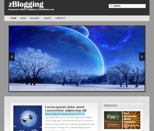 Elegant Yet Free HTML5 Web Templates And Layouts 32