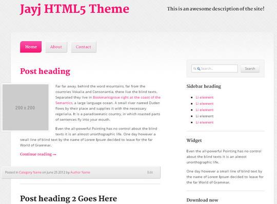 Elegant Yet Free HTML5 Web Templates And Layouts 38