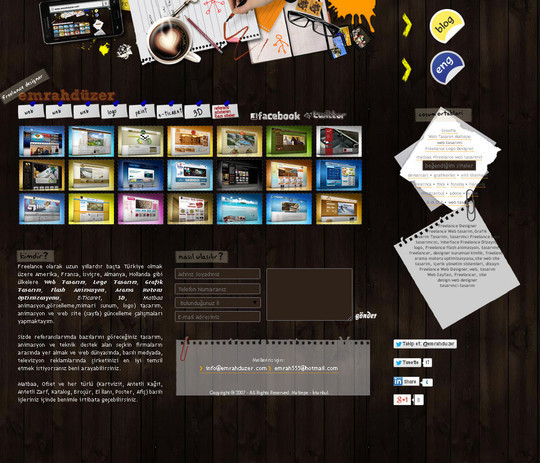 12 Creative Websites Using Office Stationery In Designs 10