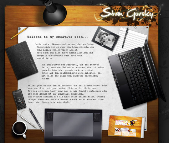 12 Creative Websites Using Office Stationery In Designs 5