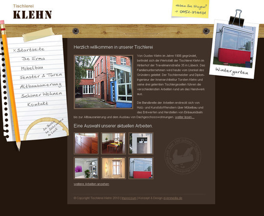 12 Creative Websites Using Office Stationery In Designs 8