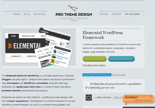 12 Useful Free Html5 Wordpress Framework 2