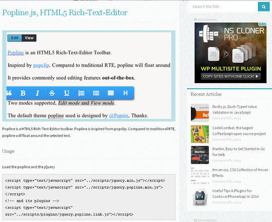 5 HTML5 Text Editors For Web Developers 5
