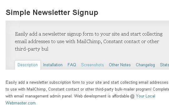 40 Free WordPress Newsletter Plugins 35