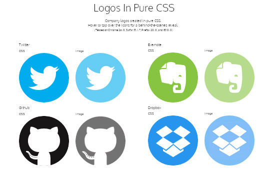 40 Logos And Objects Created With Pure CSS 2