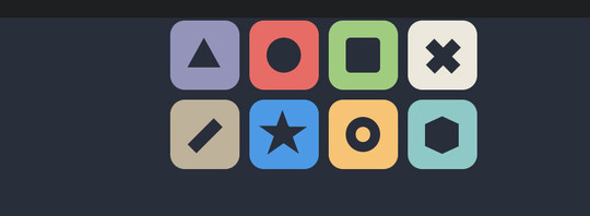 40 Logos And Objects Created With Pure CSS 20