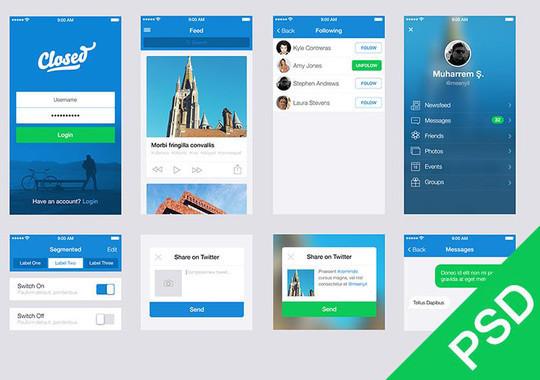 50 Fantastic And Free Web UI Kits 5