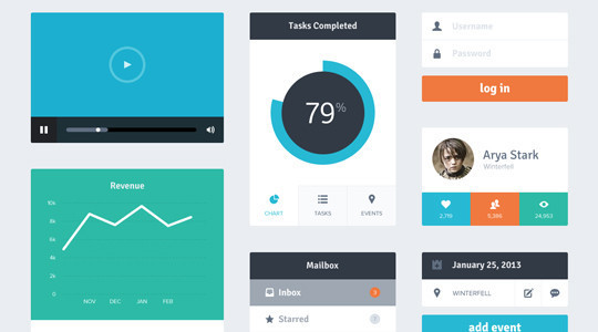 50 Fantastic And Free Web UI Kits 23