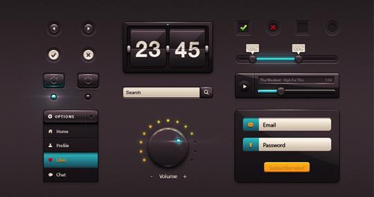 50 Fantastic And Free Web UI Kits 2