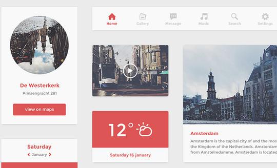 50 Fantastic And Free Web UI Kits 31