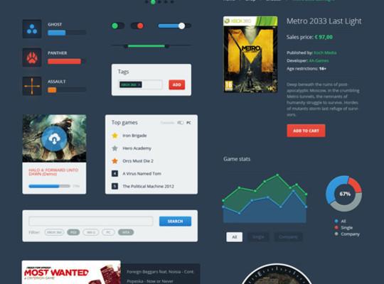 50 Fantastic And Free Web UI Kits 4