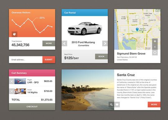 50 Fantastic And Free Web UI Kits 35