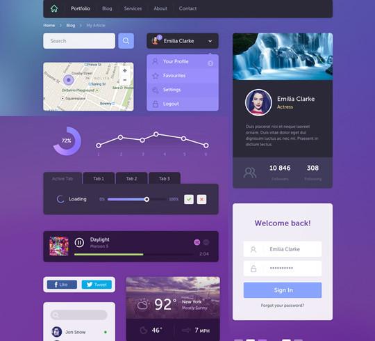 50 Fantastic And Free Web UI Kits 37