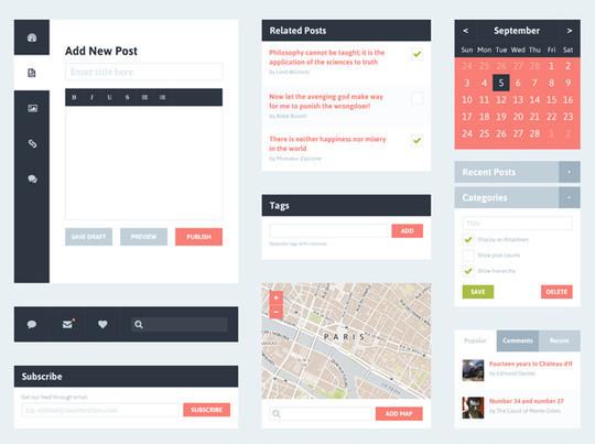 50 Fantastic And Free Web UI Kits 38