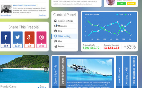 50 Fantastic And Free Web UI Kits 43