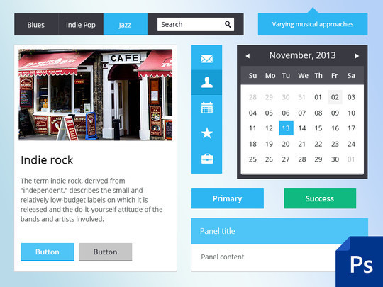 50 Fantastic And Free Web UI Kits 6