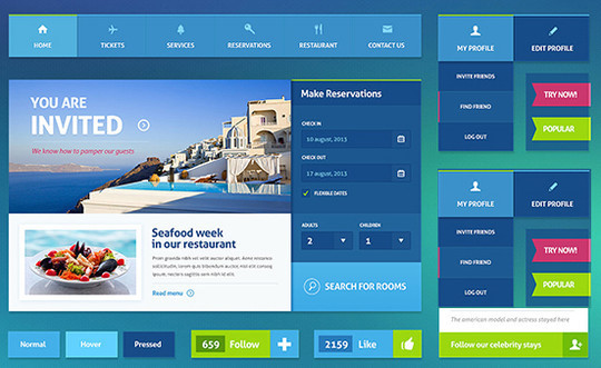 50 Fantastic And Free Web UI Kits 49
