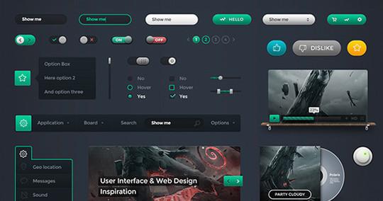 50 Fantastic And Free Web UI Kits 10