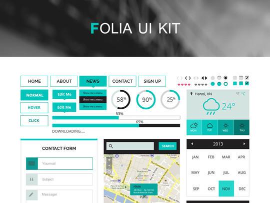 50 Fantastic And Free Web UI Kits 50