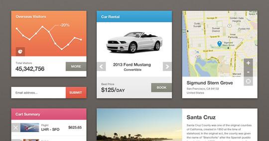 50 Fantastic And Free Web UI Kits 12