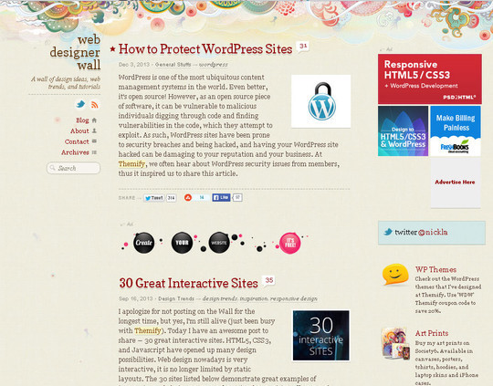 40 Original HTML5 Markup Websites 30