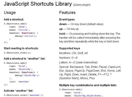 10 JavaScript Libraries To Handle Keyboard Events 10