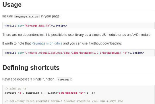 10 JavaScript Libraries To Handle Keyboard Events 4