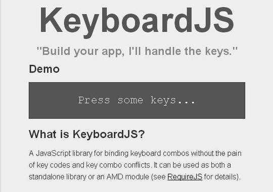 10 JavaScript Libraries To Handle Keyboard Events 5