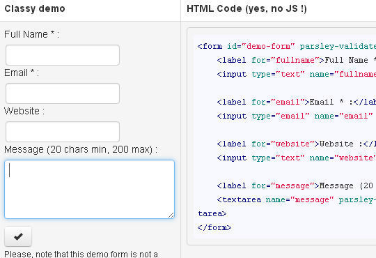 17 jQuery Plugins For Form Functionality & Validation 8