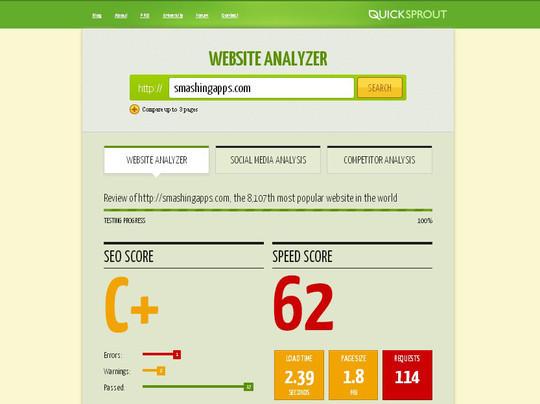 8 Free Page Analysis Tools 4