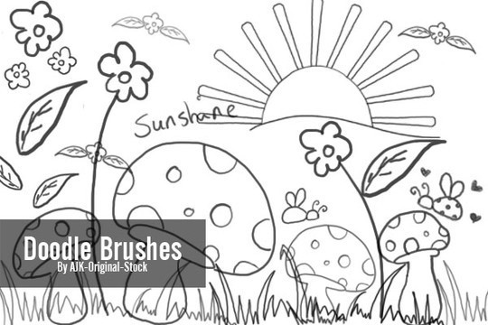 15 Photoshop Free Scribble and Doodle Brushes 3