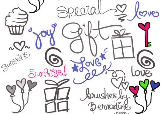 15 Photoshop Free Scribble and Doodle Brushes 15