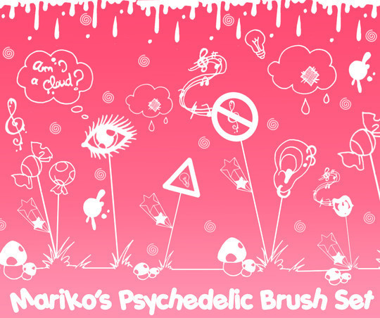 15 Photoshop Free Scribble and Doodle Brushes 11