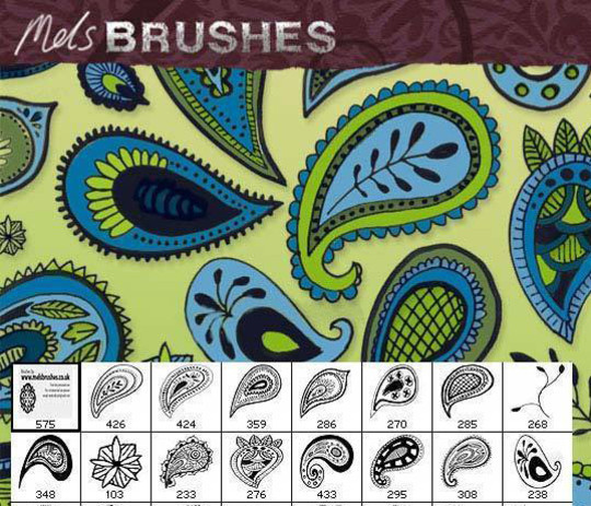 15 Photoshop Free Scribble and Doodle Brushes 12