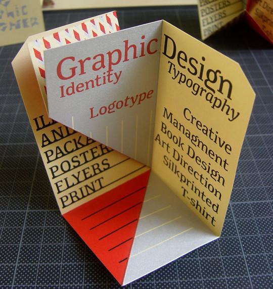 14 Amazing Folding Business Cards 12
