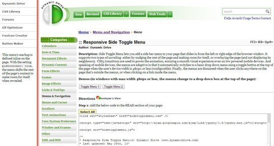 28 Exciting And Fresh jQuery Navigation Plugins 5