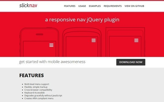 28 Exciting And Fresh jQuery Navigation Plugins 1