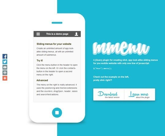 28 Exciting And Fresh jQuery Navigation Plugins 12