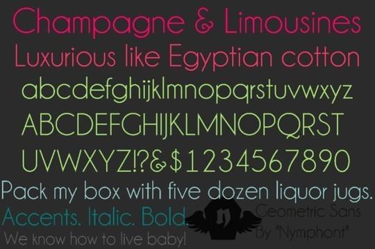 15 Free Superb Sans-Serif Fonts For Designers 6