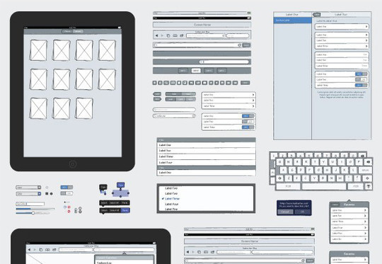 14 UI Wireframe Stencils For Quick Prototyping 3