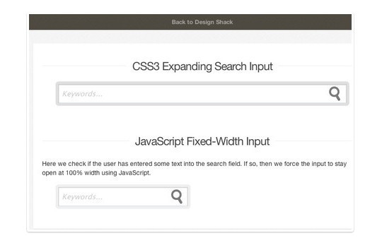 13 Really Useful HTML5, CSS3 & jQuery Search Form Tutorials 8